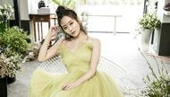 李纯一袭绿纱裙拍写真,气质恬静雅致美若仙子
